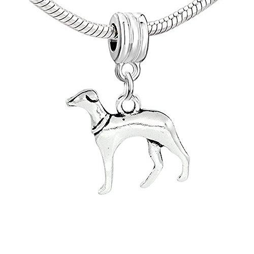 Greyhound Dog Charm for Snake Chain Charm - Charm Dog Greyhound