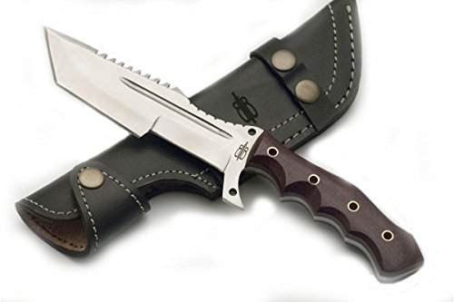 BucknBear Knives Tanto Tracker Red Micarta 6in Knife -