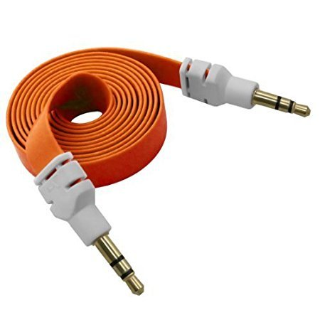 Teconica JJS138 Universal Device Connecting Flat Aux Cable with 3.5mm Jack for All Devices