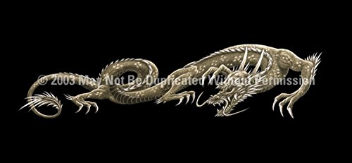 Clearvue Graphics Window Graphic - 30x65 Dragon Tattoo - 30 X 65 Dragon
