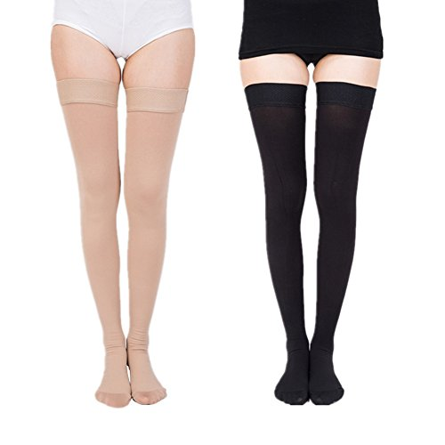 Mwfus Silicone Medical Athletic Running Compression Socks Prevention Varicose Veins Edema Stockings by Mwfus (Image #3)