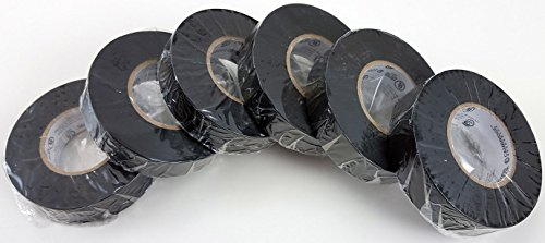 Cambridge Electrical Tape. MEGA PACK, 6 Rolls Black 3/4 Inch By 66 Feet Per Roll Plus 5 Rolls Assorted Colors 1/2 Inch By 20 Feet Per Roll, Professional Grade by Cambridge (Image #6)