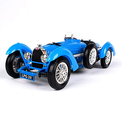 LUCKYCAR Model Cars Bugatti Type 59,Model Cars 1:18 diecast Finished Product Model,The Trunk/Engine Compartment can be Opened,Activity gate, 25.2cm,Blue