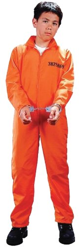 Child Got Busted Prisoner Costume - Large (12-14)