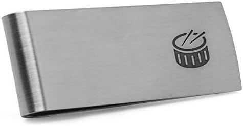 Drums Money Clip | Stainless Steel Money Clip Laser Engraved In The USA.