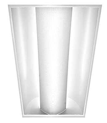 Americas Green Line 2ft x 4ft Single Dome Troffer LED Panel Light Commercial Drop Ceiling 2 tube Light Fixture 44W [Replaces 2 Lamp T8] 5480 Lumens, 4000k Neutral White Color DLC Certified