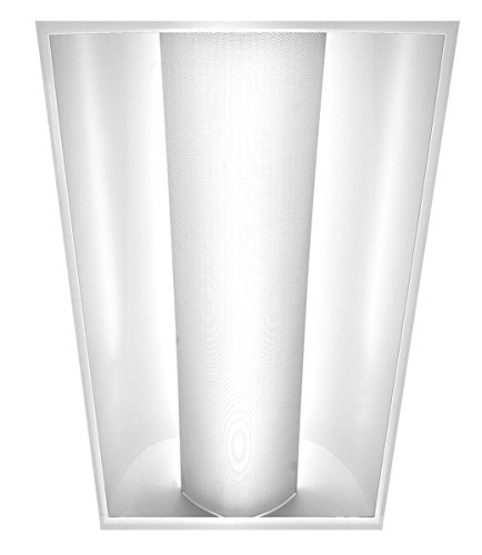 Americas Green Line 2ft x 4ft Single Dome Troffer LED Panel Light Commercial Drop Ceiling 2 tube Light Fixture 30W [Replaces 2 Lamp T8] 4200 Lumens, 4000k Neutral White Color DLC Certified