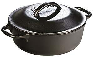 Lodge L2SP3 Cast Iron Serving Pot, Pre-Seasoned, 2-Quart