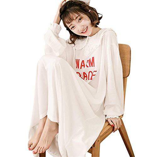 Ropa Dormir Otoño Con Larga Señoras Pijama Cómodo Fashionista Chemise Manga En Suelta Cuello V Pink De Las Camisón 6qRZaa