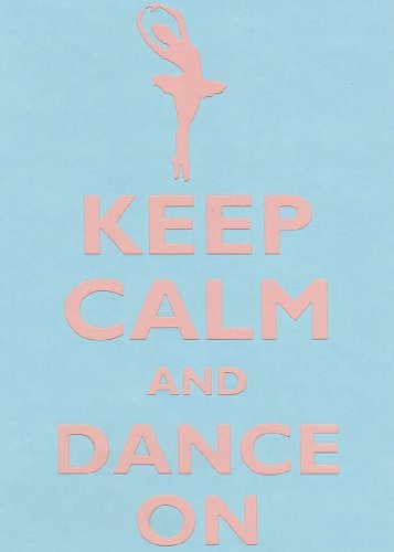 Rectangle Refrigerator Magnet - Keep Calm and Dance On Female Ballerina (Dance Refrigerator Magnet)