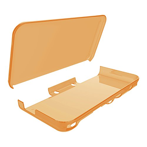 Cover Case for New Nintendo 2DS XL,Crystal Clear Case for New Nintendo 2DS XL - Orange