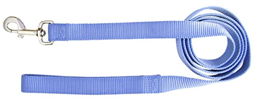 Image of Hamilton Single Thick Nylon Dog Lead, 1-Inch by 6-Feet, Berry Blue