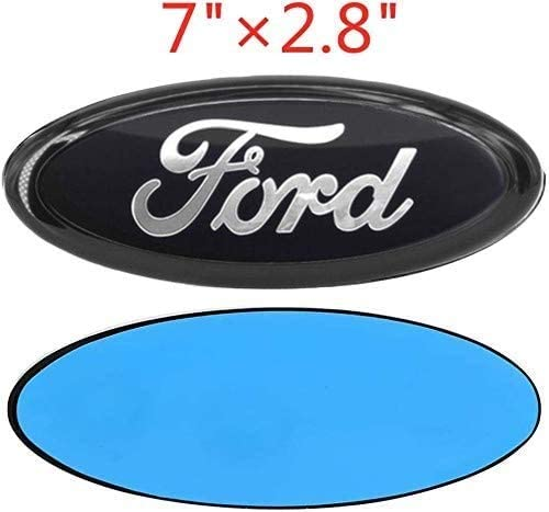 7 Inch Black /&Chrome Line Front Grille Tailgate Emblem 3D Oval 3M Double Side Adhesive Tape Sticker Badge Compatible with Ford Escape Excursion Expedition Freestyle F-150 F-250 F350
