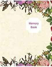 Memory Book: 90 page 8x10 size memory journal book with space to write your memories to leave as a keepsake for your family.