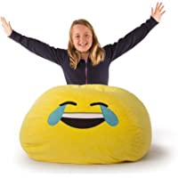 Versatile, Upbeat Durable Easy Care Emoji Bean Bag GO EXPRESS YOURSELF (Laugh)