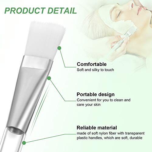 16 Pieces Facial-Mask Brush Face-Mask Applicator Soft Facial Application Brush with Clear Plastic Handle for Skin Care…