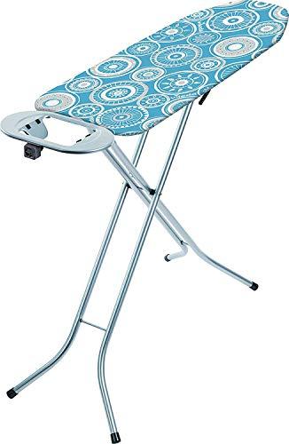 Vileda Universal Planche à repasser pliable, petite et stable, support pour fer à repasser, hauteur réglable, 110 x 30 cm, bleu
