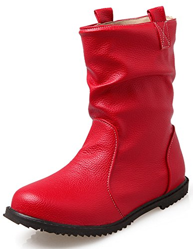Women 's Martin Boots Casual Fashion Women Boots (Red) - 9