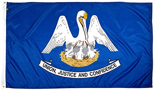 FlagSource Louisiana Nylon State Flag, Made in The USA, 3x5'