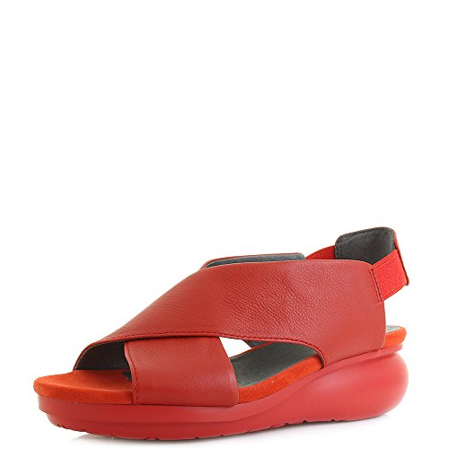 Camper Womens (Camper K200066 Medium Red Womens Wedges Size 38M)