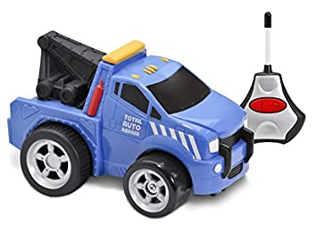 Kid Galaxy Squeezable Remote Control Tow Truck  RC Toy for Preschool Kids  Age 2 and Up
