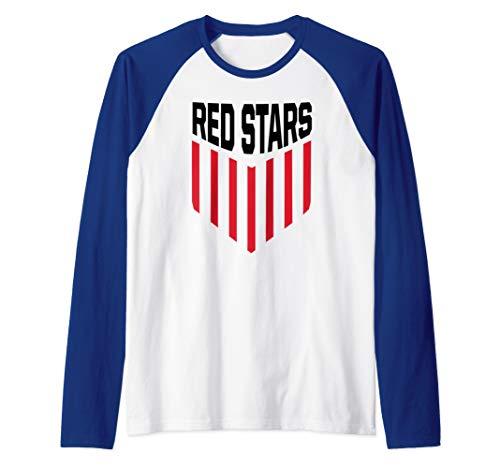 Chicago Womens Jersey American Soccer Red Stars Gift Raglan Baseball Tee