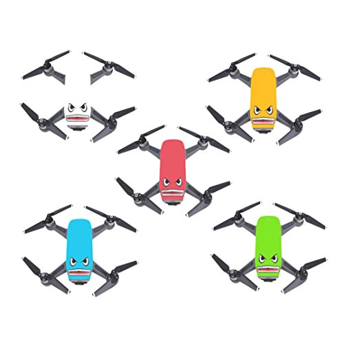 Creazy Shark Sticker Flim Decal Eyes Skin Waterproof Set For DJI Spark Mavic Pro Drone