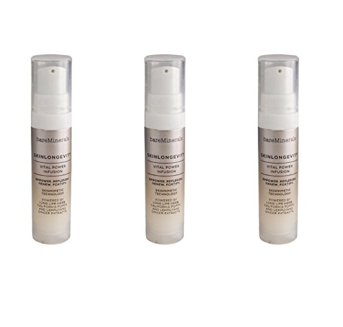 - bareMinerals Skinsorials Skinlongevity Vital Power Infusion ~ Travel Size Set of 3~0.25 fl oz each/total 0.75 fl oz