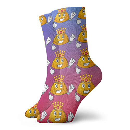SARA NELL Novelty Funny Crazy Crew Sock King Homemade Patties On The Table Cartoon Printed Sport Athletic Winter Warm Socks 30cm Long Personalized Gift Socks