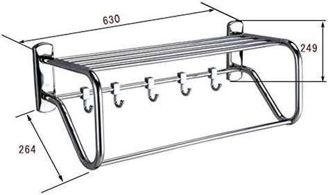 タオルホルダー タオルスタンド タオルバー タオルラック タオルハンガー バスタオル掛け ステンレス鋼の浴室の二重層は銀を接続します ZHAOFENGE