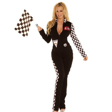 Sexy Black Race Car Driver Costume - Small / ()