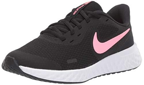 Nike Unisex Revolution 5 Grade School Running Shoe, Black/Sunset Pulse, 7Y Regular US Big Kid