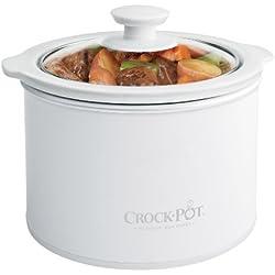 Crock-Pot 1-1/2-Quart Round Manual Slow Cooker, White (SCR151-WG)