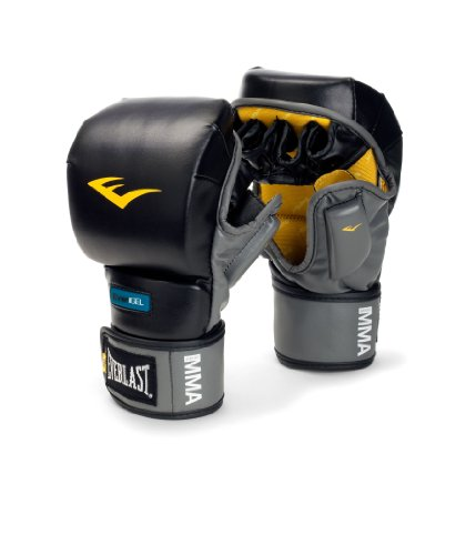 Everlast BlackGrey Striking Evergel Training Glove (SmallMedium)