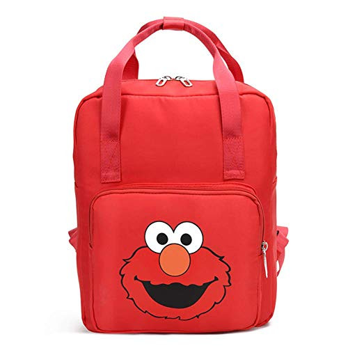 YOURNELO Kid's Cute Cartoon Brown Bear Sesame Street Backpack Handbag School Bookbag (Sesame Street)