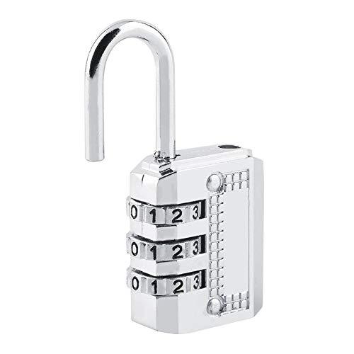 Acero de seguridad superior Marcador de combinaci/ón de 3//4 candado Puerta de armario Caja de herramientas Bloqueo de maleta de equipaje Mantenga su propiedad segura