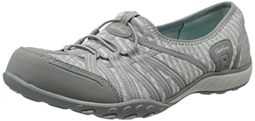 Skechers Sport Women's Dimension Fashion Sneaker, Gray Mesh/Dura Buck/Charcoal Trim, 8 M US