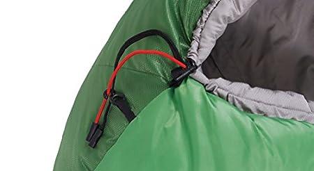 ALEXIKA saco de dormir de montaña, cierre de cremallera marcha bien,/gris, 80 (ancho superior) x220 (longitud) x55 (ancho abajo), 9221.0101r verde: ...