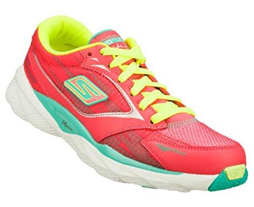 Skechers Women's Go Run Ride 3 Walking Shoe,Hot Pink/Aqua,9.5 M US