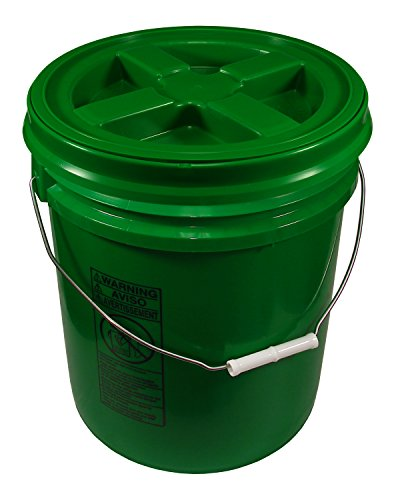 Green 5 Gallon 90 mil Bucket with Gamma Seal Lid (Green)