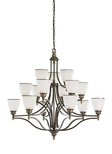 - Sea Gull Lighting 31352EN3-708 Fifteen Light Chandelier, Estate Bronze