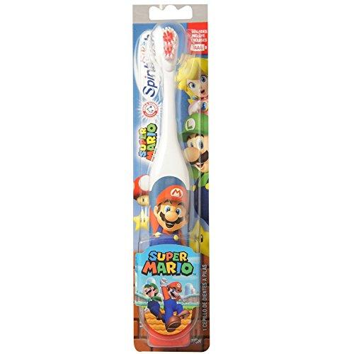 ARM & HAMMER Kid's Spinbrush Powered Toothbrush, Super Mario 1 ea (Pack of 2)