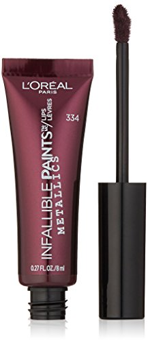 L'Oréal Paris Infallible PAINTS/LIPS Metallic, Smoldering Eclipse, 0.27 fl. oz.