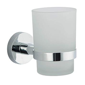 Soporte para cepillo de dientes de pared redondo cuadrado de acero inoxidable para inodoro y baño round base Round: Amazon.es: Hogar