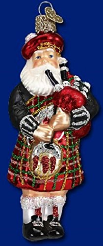 Old World Christmas Highland Santa Glass Blown Ornament (Santa Highland)