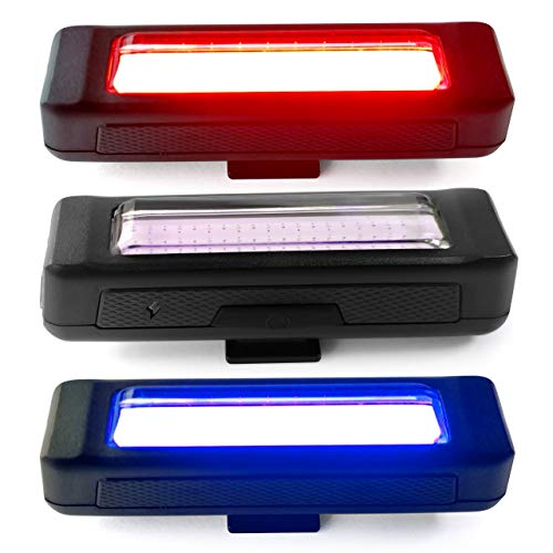 Bike Light by Dino Technologies – USB Rechargeable – Rear Bike Light with Flashing Red Or Blue Colors for Added Safety – Universal Fit for All Bicycles – Weatherproof – Rear Bike Light