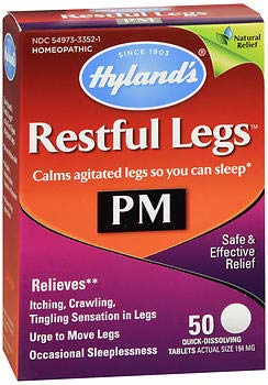 (Hyland's Restful Legs PM Quick Dissolving Tablets - 50 Tablets, Pack of 2)