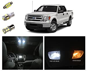 09 14 ford f 150 led package interior tag reverse lights 13 pieces automotive. Black Bedroom Furniture Sets. Home Design Ideas