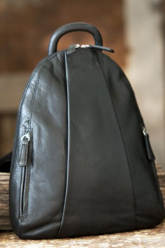 Women's Osgoode Black Leather Handbag Teardrop Backpack Marley rUqwTr
