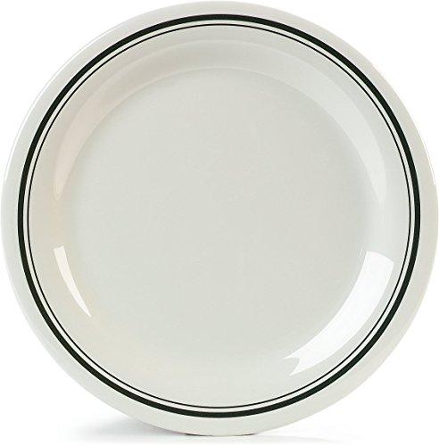 Carlisle 43003905 Durus Narrow Rim Melamine Dinner Plate, 10.5